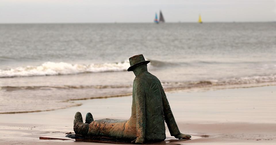 pláž, piesok, samota
